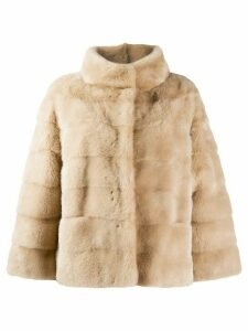 Simonetta Ravizza mink fur coat - Neutrals