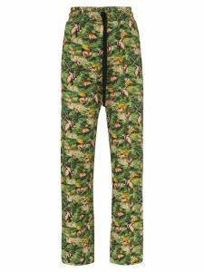 Chufy Animal print track pants - Green
