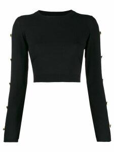 Versace buttoned sleeve jumper - Black