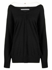 Alexander Wang v-neck jumper - Black