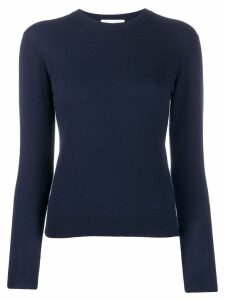 Alexandra Golovanoff fine knit fitted jumper - Blue
