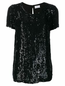 P.A.R.O.S.H. longline sequinned T-shirt - Black