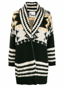 8pm intarsia-knit cardigan - Black