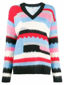 MSGM geometric knitted jumper - Blue