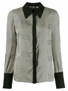 Elisabetta Franchi geometric monochrome blouse - Black