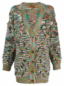 Missoni oversized frayed cardigan - Green