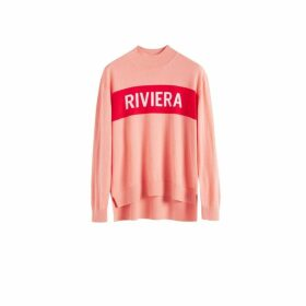 Chinti & Parker Pink Riviera Cashmere Polo Neck Sweater