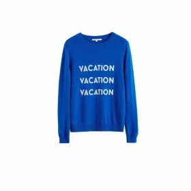 Chinti & Parker Royal-blue Vacation Wool-cashmere Sweater