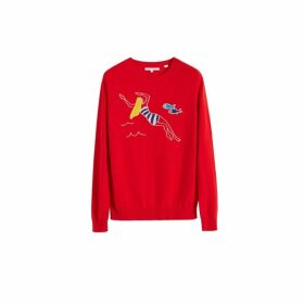Chinti & Parker Red Swimmer Cashmere Sweater