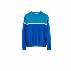 Chinti & Parker Blue Colour Block Cashmere Sweater