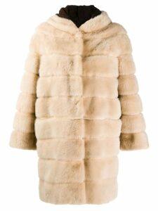Simonetta Ravizza mid-length coat - Neutrals