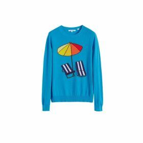 Chinti & Parker Blue Sunbed Cashmere Sweater
