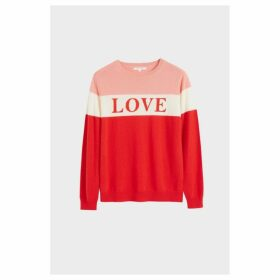 Chinti & Parker Red Colour Block Love Cashmere Sweater