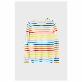 Chinti & Parker Rainbow Breton Stripe Cashmere Sweater