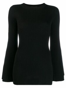Erika Cavallini ribbed jumper - Black