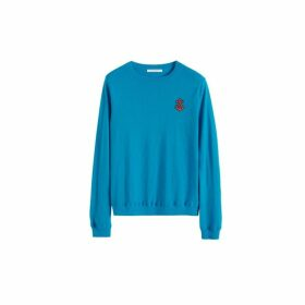 Chinti & Parker Blue Anchor Badge Cashmere Sweater