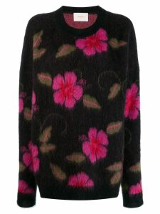 La Doublej Hawaiian flower jumper - PURPLE