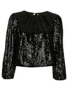 Alice+Olivia Avila sequinned top - Black