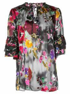 Alice+Olivia Julius floral print blouse - Black