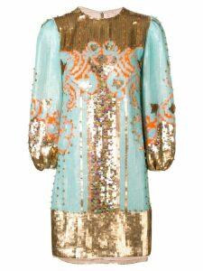 Valentino sequin embroidered mini dress - Blue