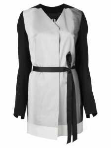 Rick Owens wrap-style belted coat - Black