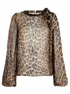 Nº21 animal print blouse - NEUTRALS