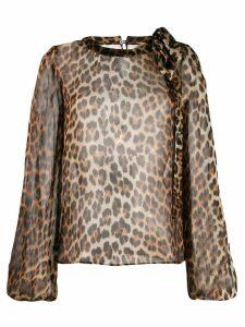 Nº21 animal print blouse - Neutrals
