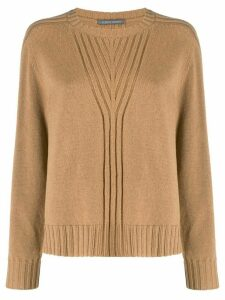 Alberta Ferretti crew neck knitted jumper - NEUTRALS