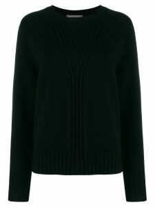 Alberta Ferretti crew neck knitted jumper - Black
