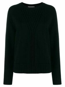 Alberta Ferretti crew neck knitted jumper - Black