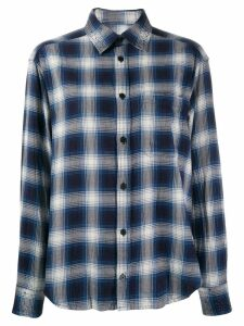 Zadig & Voltaire rhinestone plaid shirt - Blue
