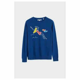 Chinti & Parker Blue Swimmer Cashmere Sweater