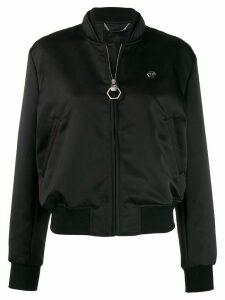 Philipp Plein Teddy Bear bomber jacket - Black