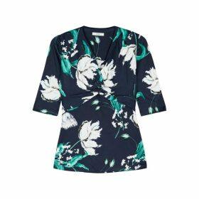 Erdem Arcadia Floral-print Jersey Top
