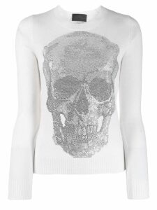Philipp Plein Skull jumper. - White