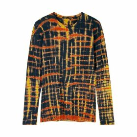 Proenza Schouler Black Tie-dye Cotton Top