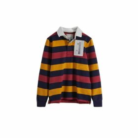 Hackett Archive Striped Cotton Long-sleeved Rugby Shirt