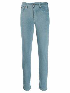 Polo Ralph Lauren logo print skinny jeans - Blue