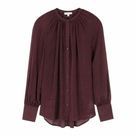 Equipment Corbette Plum Fil Coupé Blouse