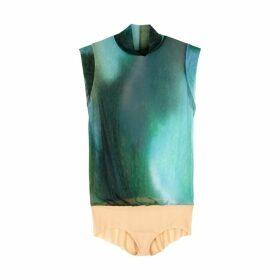 Wolford Jellyfish Dégradé Stretch-tulle Bodysuit