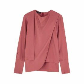 Eudon Choi Franz Red Draped Top