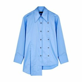 Eudon Choi Kinksy Blue Asymmetric Cotton Shirt