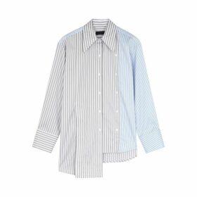 Eudon Choi Kinksy Striped Asymmetric Cotton Shirt
