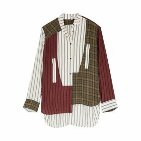 Loewe Patchwork Asymmetric Crinkle-finish Shirt
