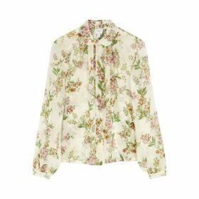 Giambattista Valli Floral-print Chiffon Shirt