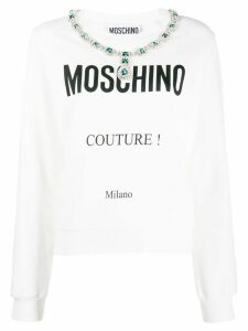 Moschino logo sweatshirt - White
