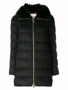 Herno fur lined coat - Black