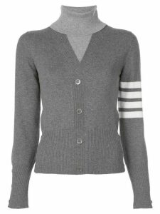 Thom Browne striped armband sweater - Grey