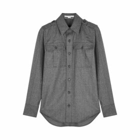 Stella McCartney Grey Flannel Wool Shirt
