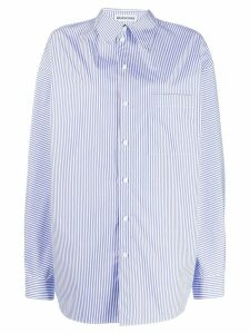 Balenciaga pulled striped shirt - White